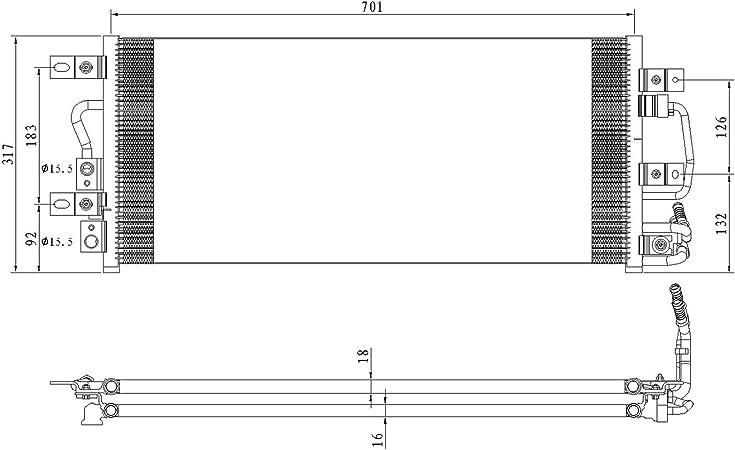 NEW A//C CONDENSER FITS 2013-2015 FORD EXPLORER CND4298