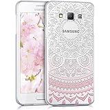 kwmobile Hülle für Samsung Galaxy A3 (2015) - Crystal Case Handy Schutzhülle Kunststoff - Backcover Cover klar Indische Sonne Design Rosa Weiß Transparent