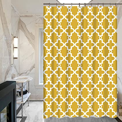 Image Unavailable  sc 1 st  Amazon.com & Amazon.com: ALDECOR Geometric Aria Trellis Chic Fabric Shower ...
