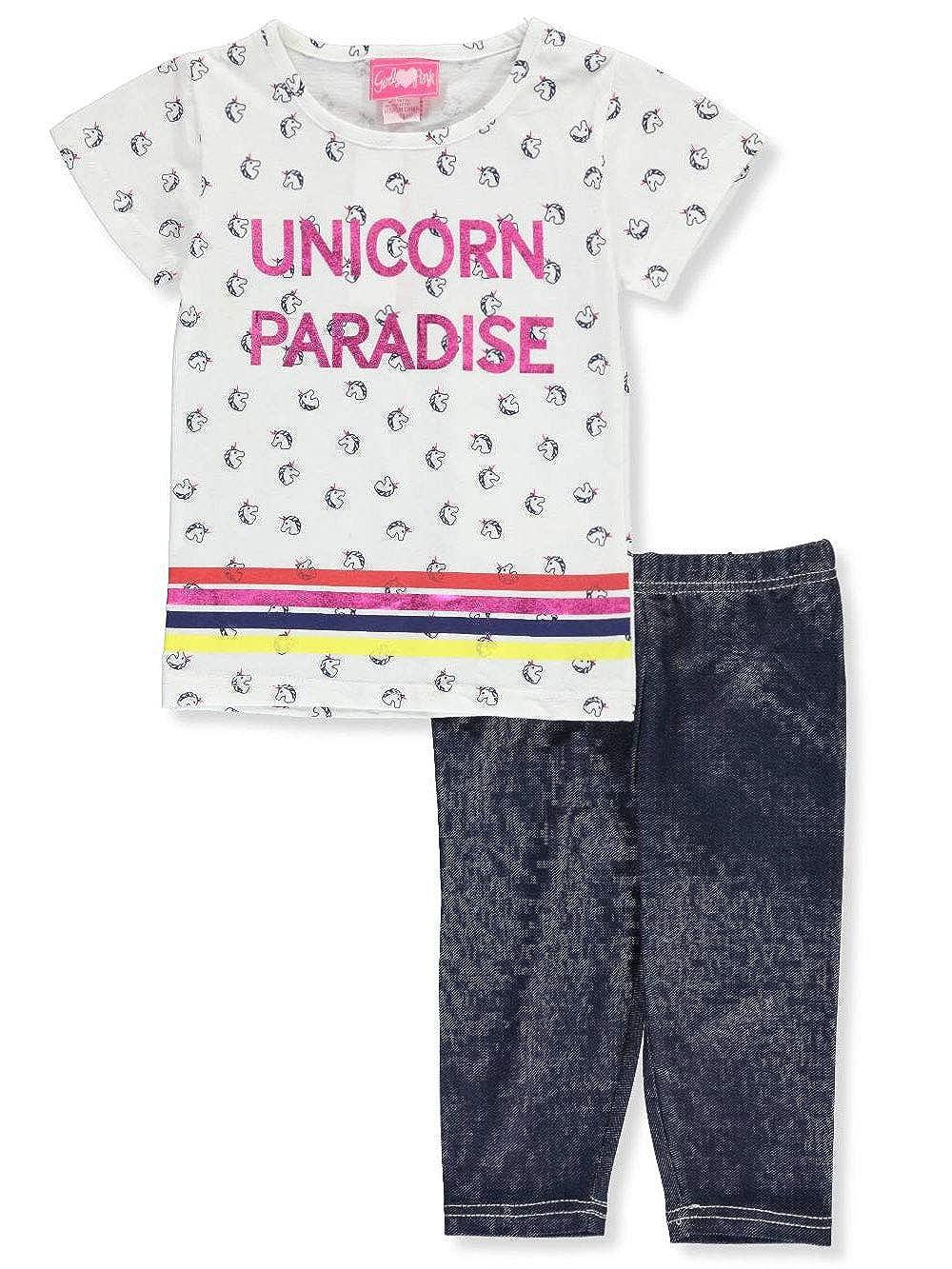 Girls Luv Pink Girls 2-Piece Leggings Set Outfit