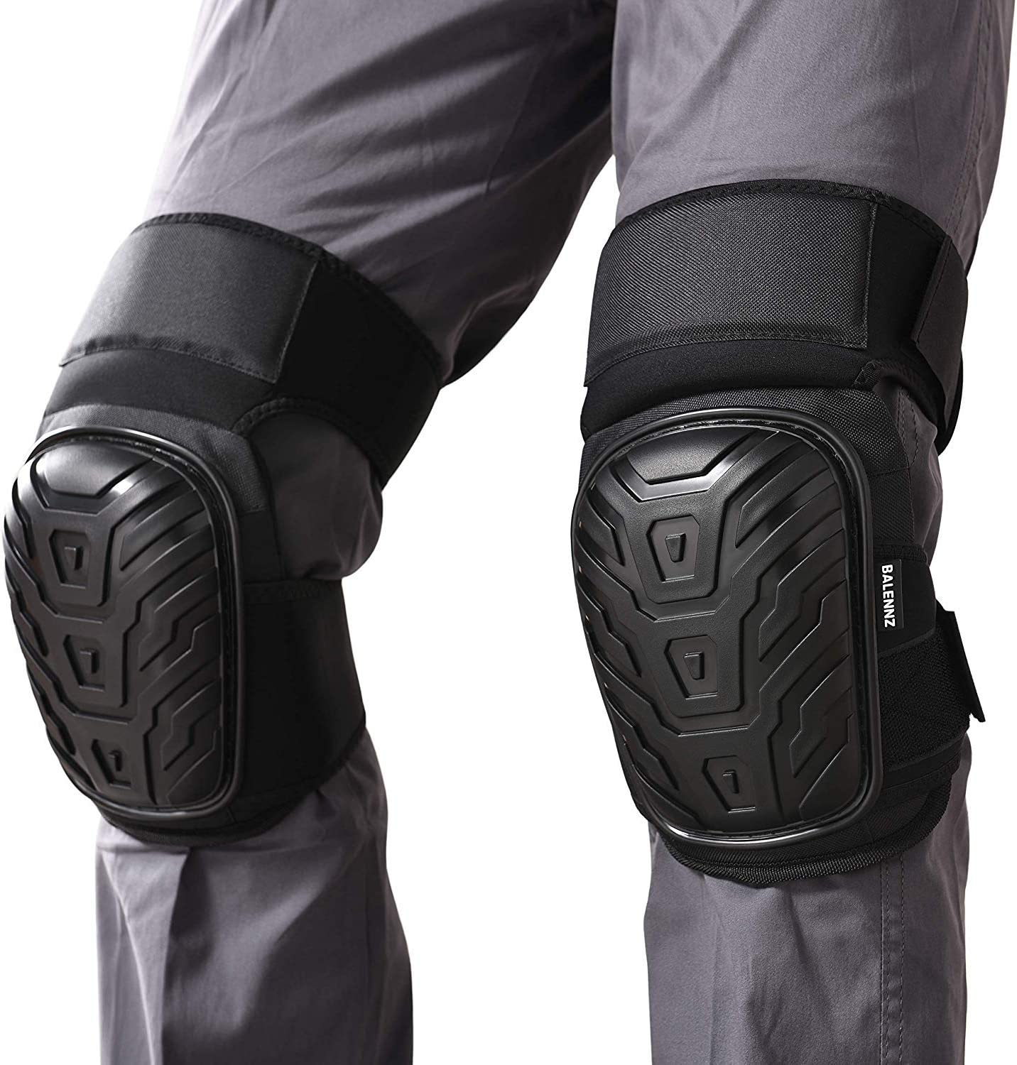 Professional Knee Pads with Heavy Duty Foam Padding and Comfortable Gel Cushion