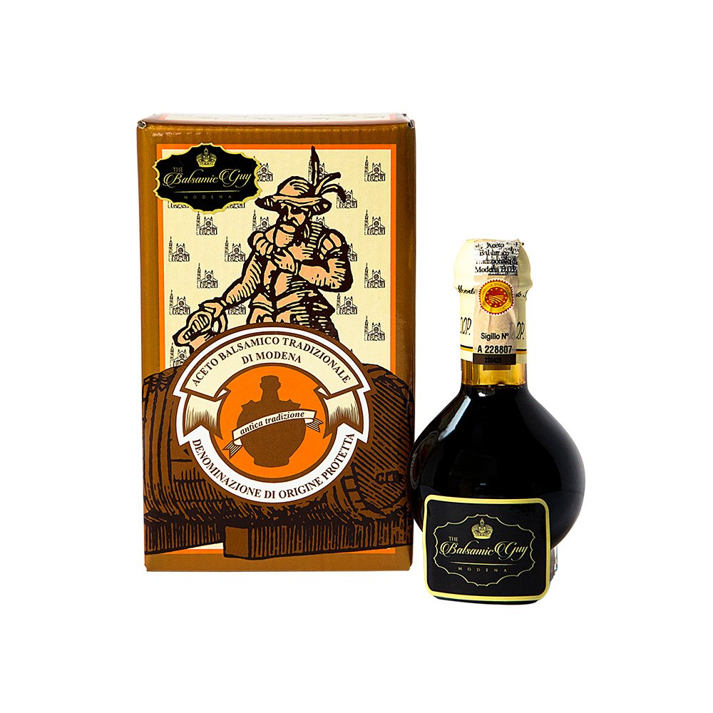 Balsamic Vinegar of Modena Traditional 12 year old DOP certified. Best score from The Consortium of Modena Aceto Balsamico Tradizionale Affinato. On Sale Now.