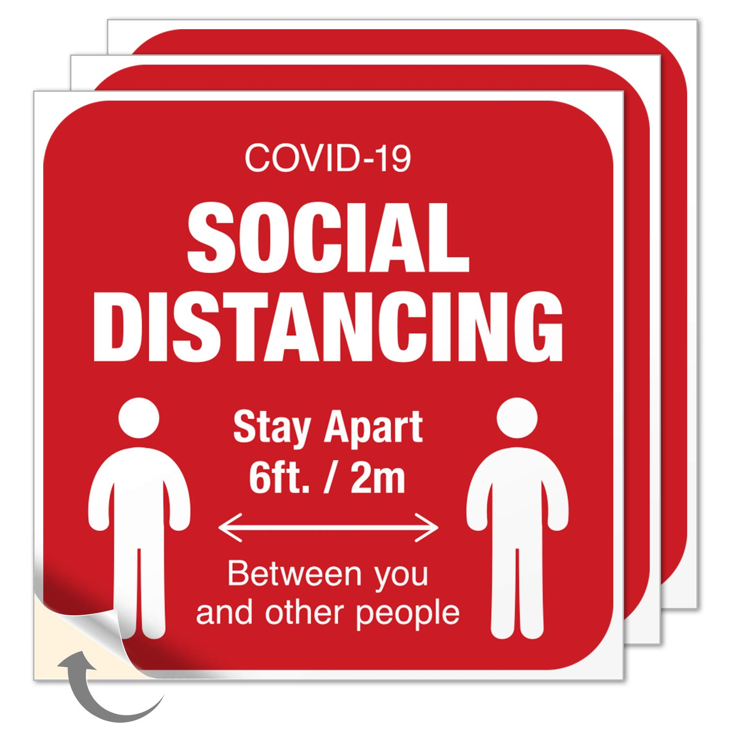 P469 MAINTAIN DISTANCING FROM OTHERS ANY SIZE VINYL DECAL BUMPER STICKER
