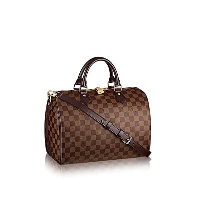 Amazon.com  Louis Vuitton Damier Ebene Canvas Speedy Bandouliere 30 N41367   Shoes 63fdb5ac836dd