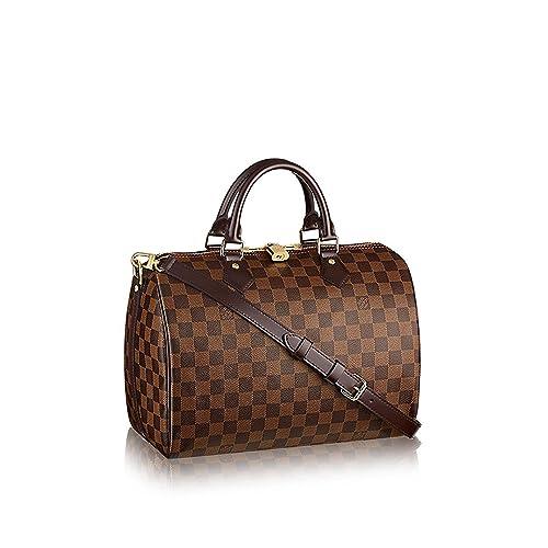 0301e6944d3 Amazon.com: Louis Vuitton Damier Ebene Canvas Speedy Bandouliere 30 ...