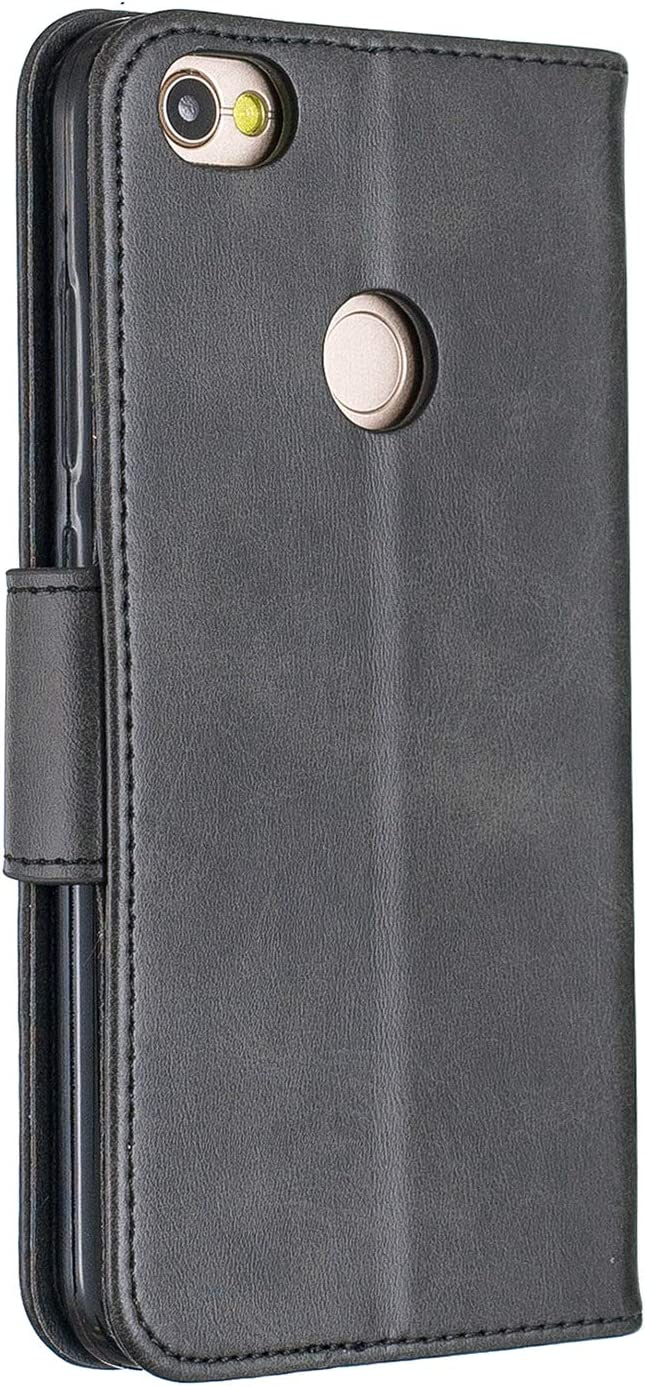 Lomogo Xiaomi Redmi Note 5A//Y1//Y1 Lite Case Leather Wallet Case with Kickstand Card Holder Shockproof Flip Case Cover for Xiaomi Redmi Note5A//Redmi Y1 Lite LOBFE150662 Red