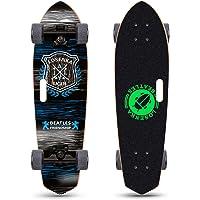 LOSENKA 28 inch Mini Cruiser Skateboard Cruiser   Canadian Maple Deck - Designed for Kids, Teens and Adults