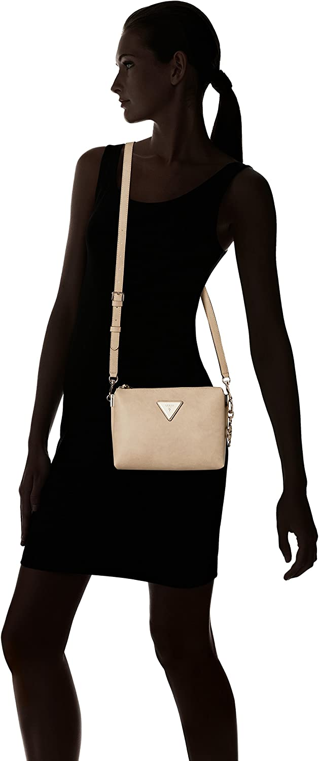Guess - Sac bandoulière Jade (hwvw66 40140) taille 18 cm Beige (Sand/San)