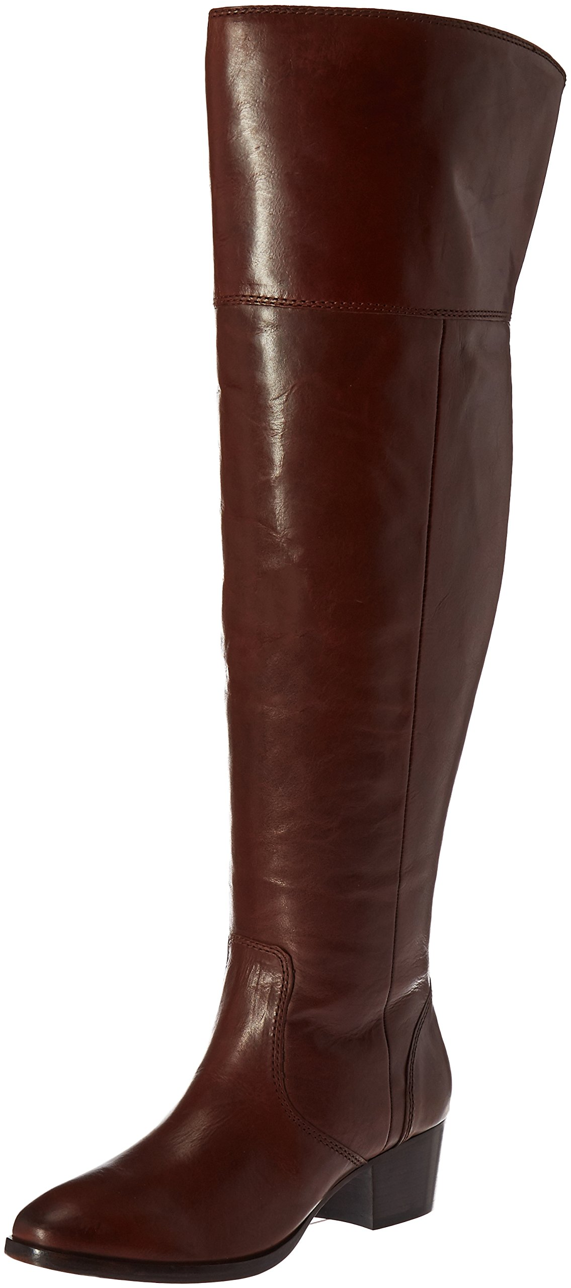 FRYE Women's Clara Otk Leather Slouch Boot, Redwood Extended Calf, 7 M US
