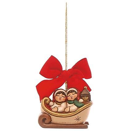 Thun Slitta Di Natale Con Bimbi Da Appendere Addobbo Natalizio