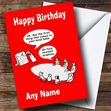 Funny Insulting Joke Personalised Birthday Card: Amazon co uk