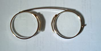 Modern Pince Nez Reading glasses /Spectacles Gold colour +2.00 with pouch by Comsafe Vision AA7cftsWQ