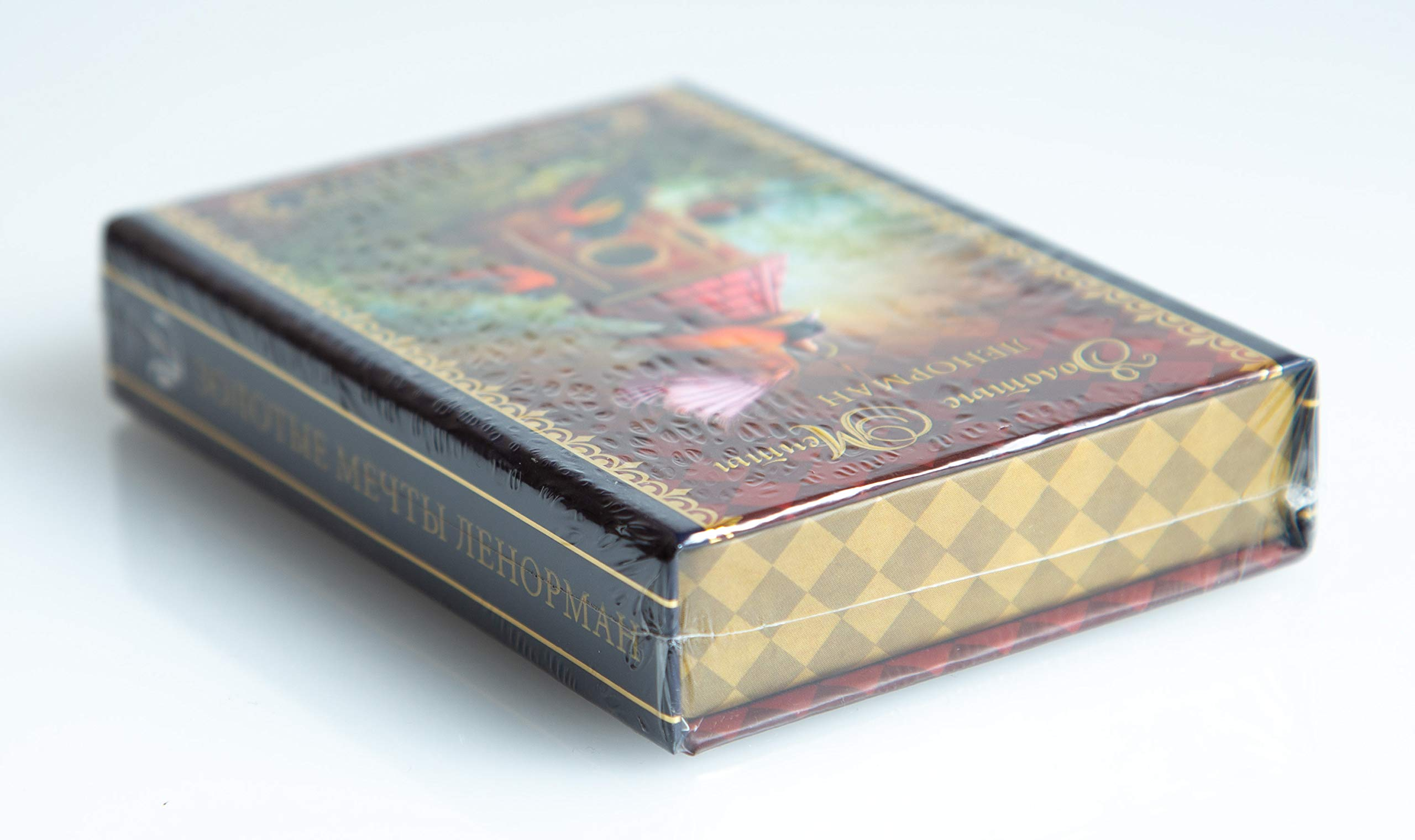 Gilded Reverie Lenormand by Chiro Marchetti 36 Tarot Card Deck Russian Edition (with Gold Trim) by Avvalon, Russia (Image #5)