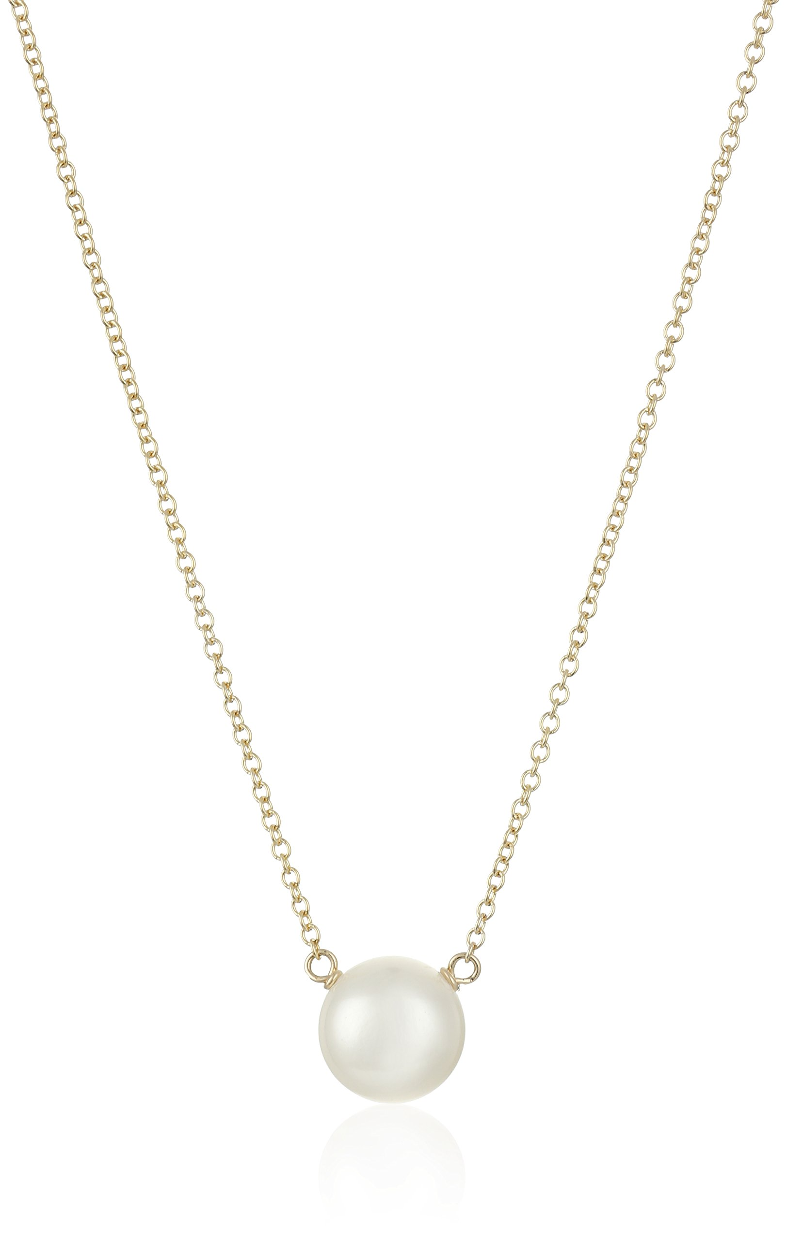 Dogeared ''Mom I Love Mom Gold Large White Pearl Necklace, 20'' by Dogeared (Image #2)