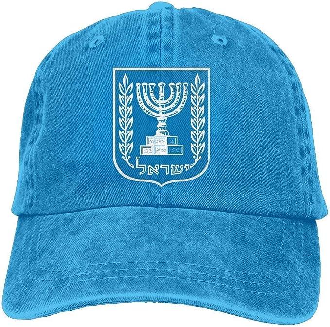 Yaoca Gorras de béisbol Ajustables Emblema Nacional israelí Gorra ...