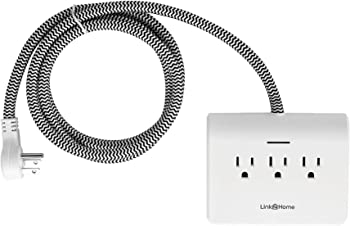 Link2Home Power Dock Surge Protector 5ft Extension Cord