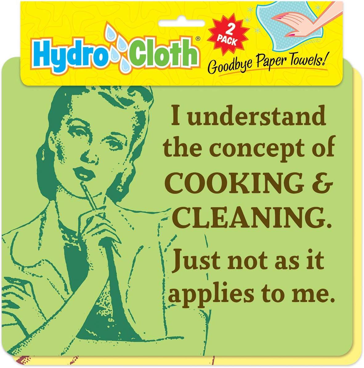 Amazon Com I Understand Hydro Cloths Eco Friendly Sponge Cloths Reusable Swedish Dish Cloths Set Of 2 Printed Sponge Cloths Kitchen Bath Auto Replaces 30 Rolls Of Paper Towels