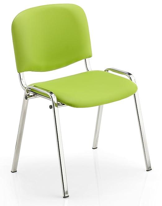 Sedie In Ecopelle Colorate.Karisma Iso Ecopelle C Sedia In Plastica Casa Ufficio Attesa