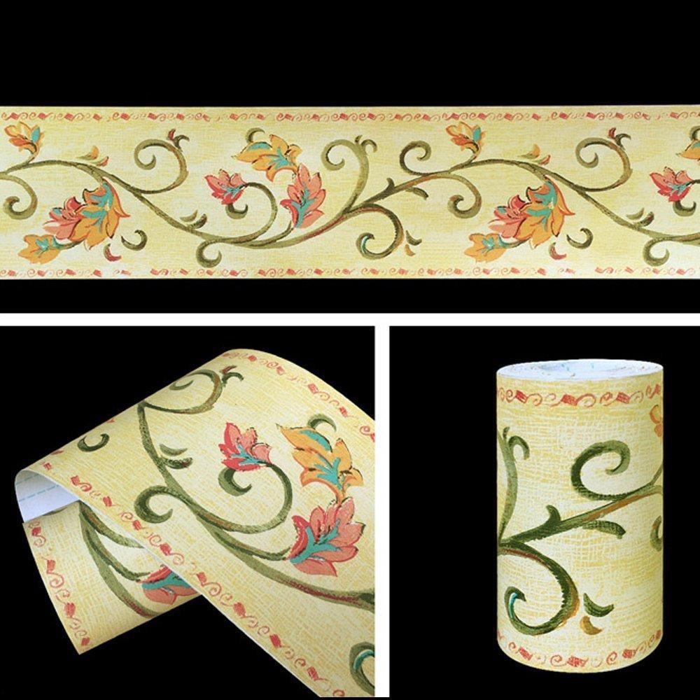 SimpleLife4U Leaf Vine Wallpaper Border Roll Self-adhesive Wall ...