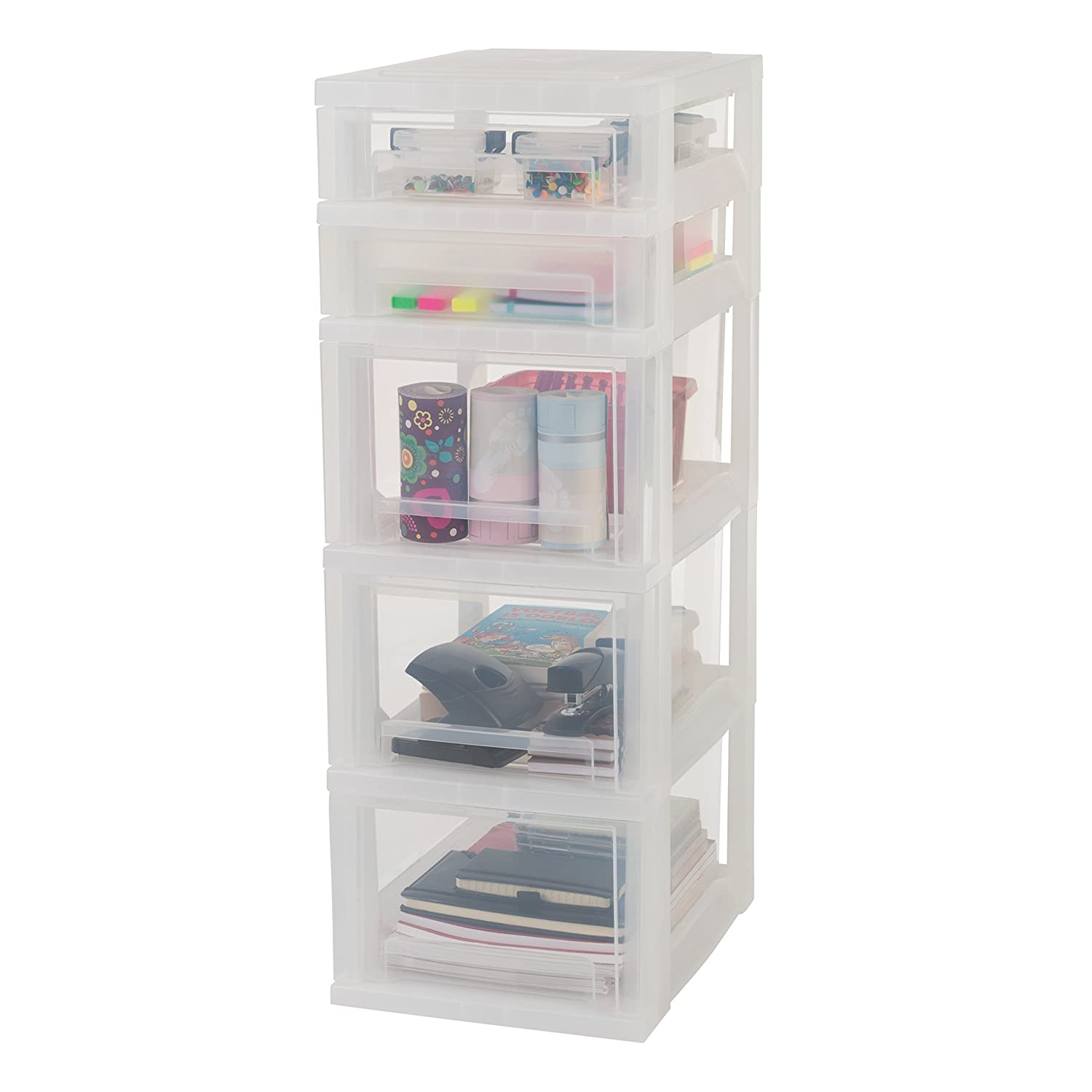 Amazon.com: Iris Ohyama Europe SDC-323 Plastic 5 Storage ...