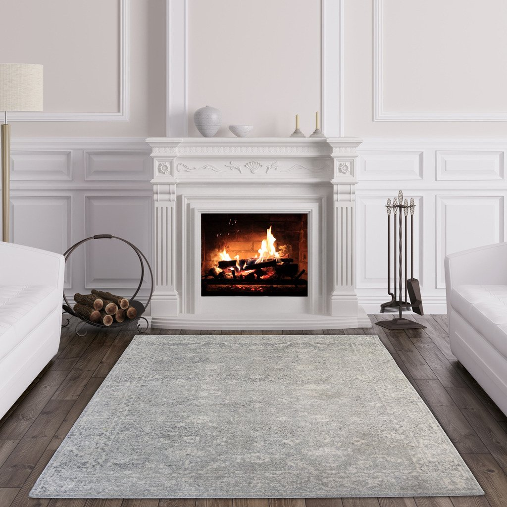 The Rug House Halcyon Traditioneller Vintage-Teppich mit Einem klassischen persischen Design für Das Wohnzimmer oder Schlafzimmer in Grautönen 200cm x 290cm