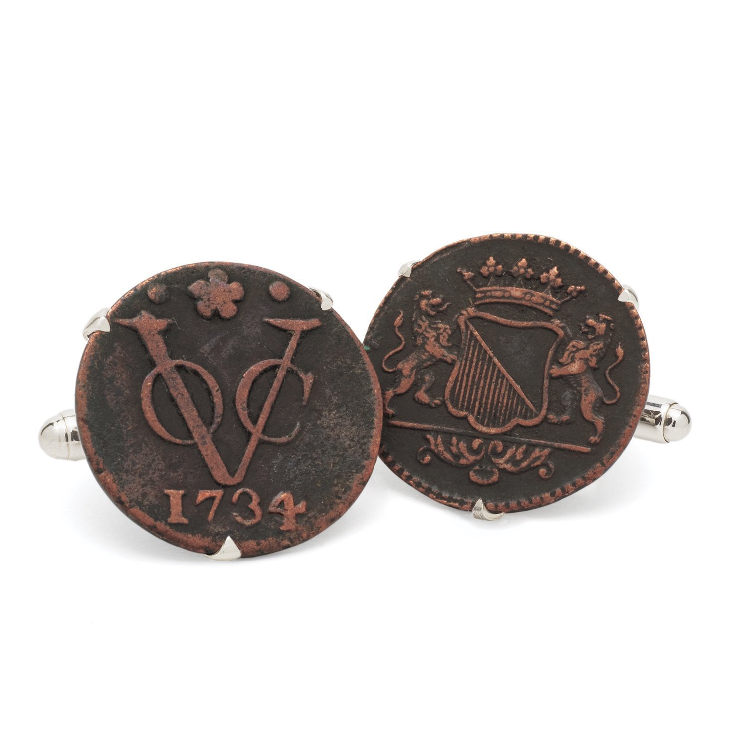 Tokens & Icons Dutch East Indian Company VOC Coin Cufflinks (55VOC)