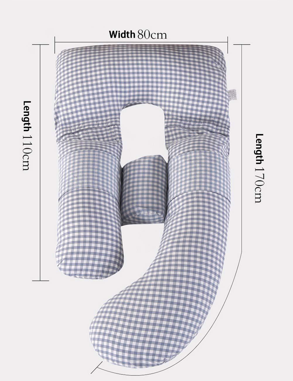 Coussins de maternit/é et Corps besbomig Oreiller de Grossesse en Forme de U Oreiller de Corps avec la Couverture rempla/çable et Lavable