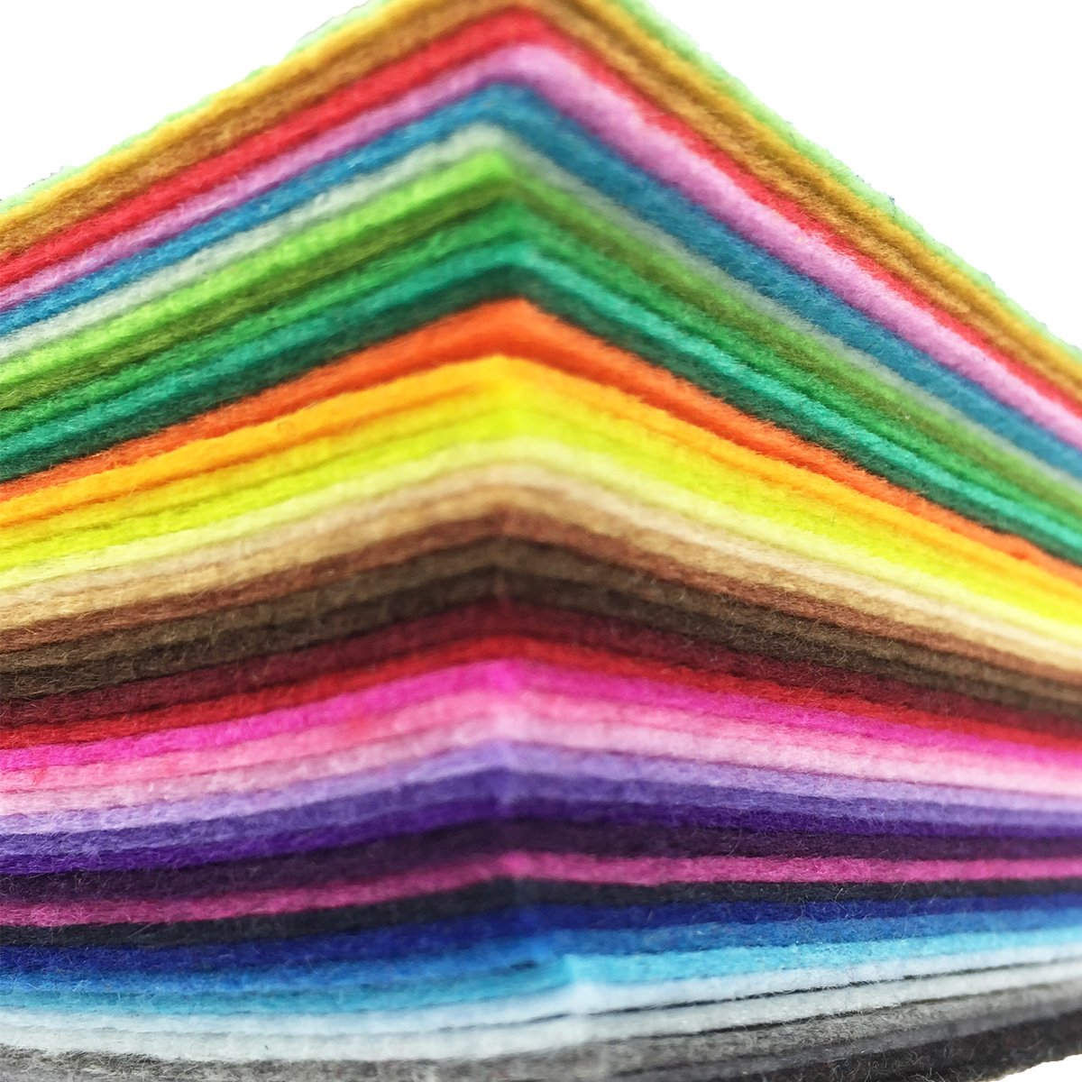 flic-flac 42pcs 12 x 12 inches (30cm30cm) Felt Fabric Sheet Assorted Color Felt Pack DIY Craft Squares Nonwoven by flic-flac (Image #2)