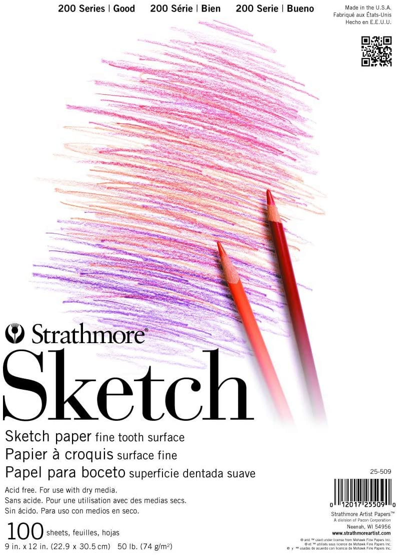 "Strathmore (25-505 STR-025-505 100 Sheet Sketch Pad, 5.5 by 8.5"", 5.5""x8.5"""