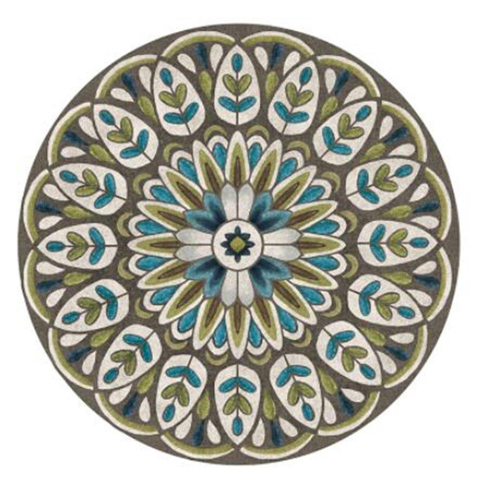 JINGYU Stile Nazionale Tappeto Circolare Tappetino Round Tappeto casa Soggiorno Decorazione più Colorei