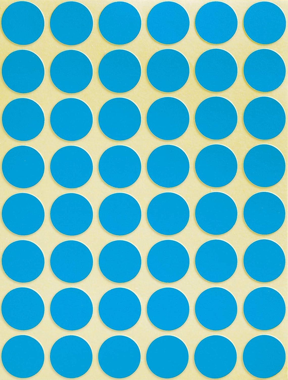 /Ø 18 mm, 1.056 Klebepunkte auf 22 Bogen, runde Aufkleber f/ür Kalender, Planer und zum Basteln, Papier, matt AVERY Zweckform 3375 selbstklebende Markierungspunkte blau