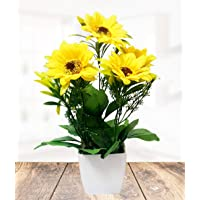 Litleo Great for Home Office, Gift, Or Decoration,Bring Brightness with These Yellow Sunflower Artificial Flower with Pot