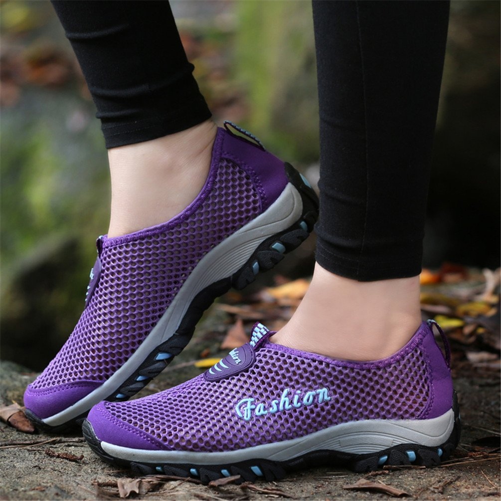 Taiya Women's Breathable Driving Walk Beach Outdoor Water Driving Breathable Shoes B01E8SIXY4 36 M EU / 6 B(M) US|Purle 146a59