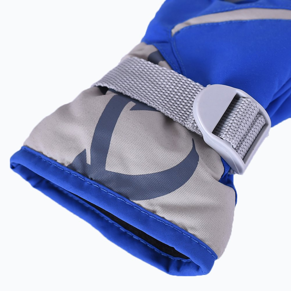 Kids Gloves,Sundlight Unisex Waterproof Winter Gloves Polyester Wadding and Velvet Outdoor Snow Ski Gloves for 5-14 Years Old Children,Free Size