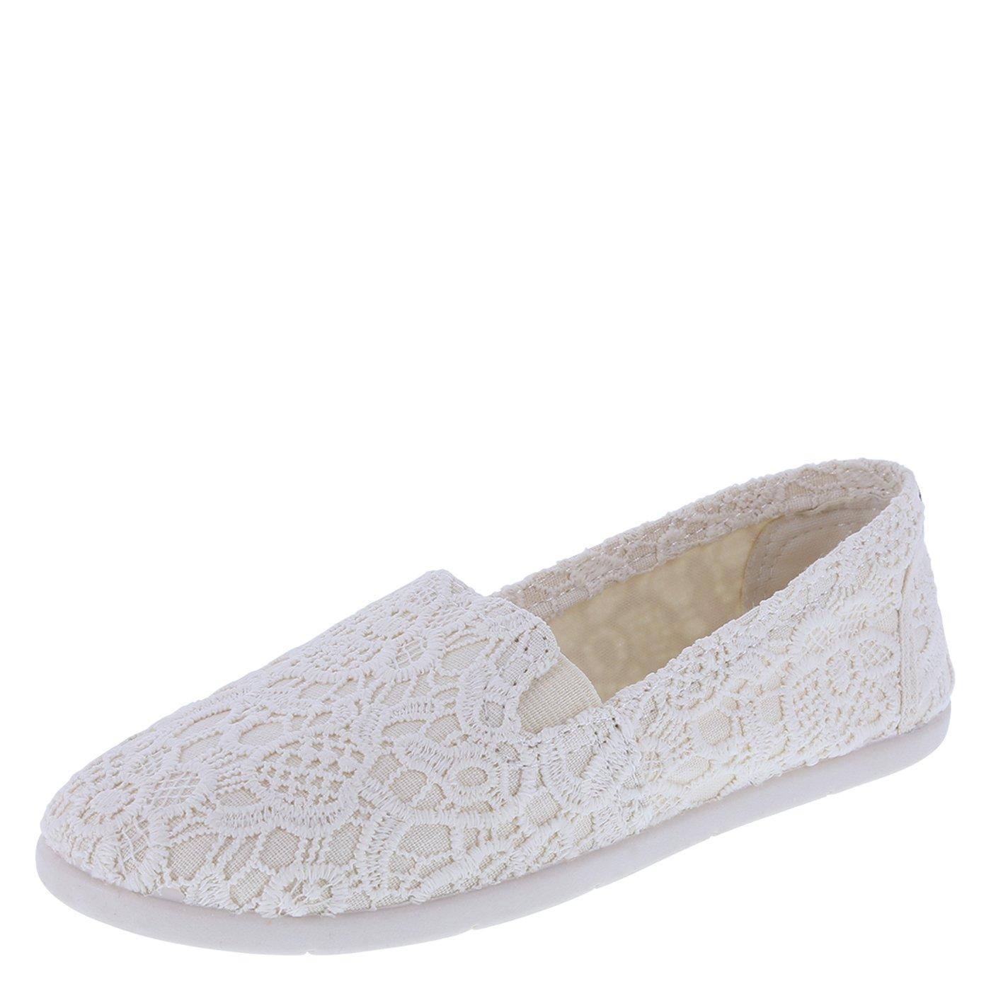 939feae074064 Airwalk Women's Cream Floral Crochet Women's Dream Slip-On 6 Regular