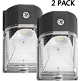 Cinoton LED Wall Pack Light,26W 3000lm 5000K (Dusk-to-dawn Photocell,Waterproof IP65), 100-277Vac,150-250W MH/HPS Replacement,Outdoor Security Lighting (2 PACK)