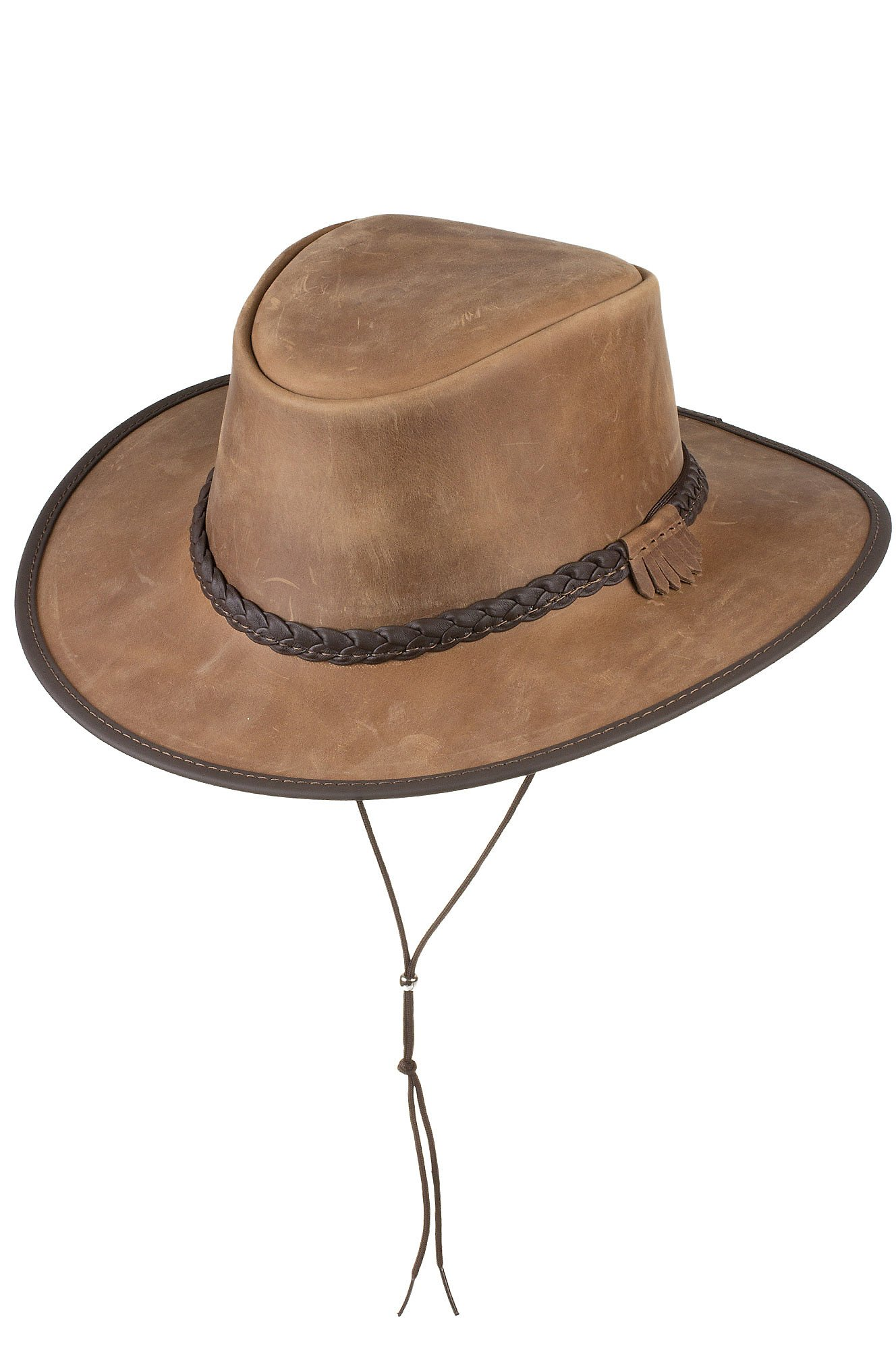 Bravo Leather Cowboy Hat, Pecan, Size XL (7 1/2-7 5/8)