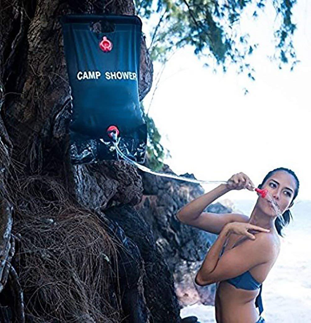 randonn/ée Xuan Mo Sac de Douche Solaire de Camping 20 l avec Tuyau Amovible et pommeau de Douche commutable pour ext/érieur Douche d/ét/é Escalade