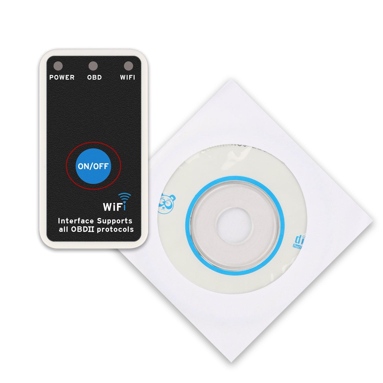 Etekcity V2.1 ELM327 Análisis de Diagnóstico Inalámbrico OBD OBDII Escáner Integrado para Automóviles 2 Años de Garantía Compatible con Móviles, ...