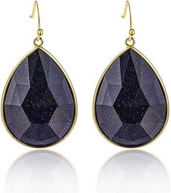 teardrop earrings waterdrop unique design earrings gift for her birthday gift Filigree gold flower