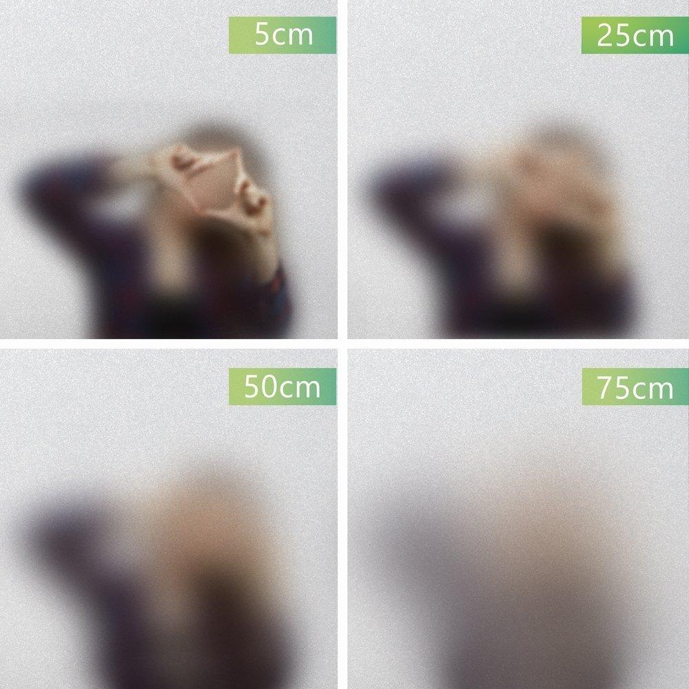 Mattiert 90cm x 400cm Fancy-Fix Pellicola privacy schermo pellicola decorativa pellicola statica AUTOADERENTE senza glutine Vetro Latte vetro schermo