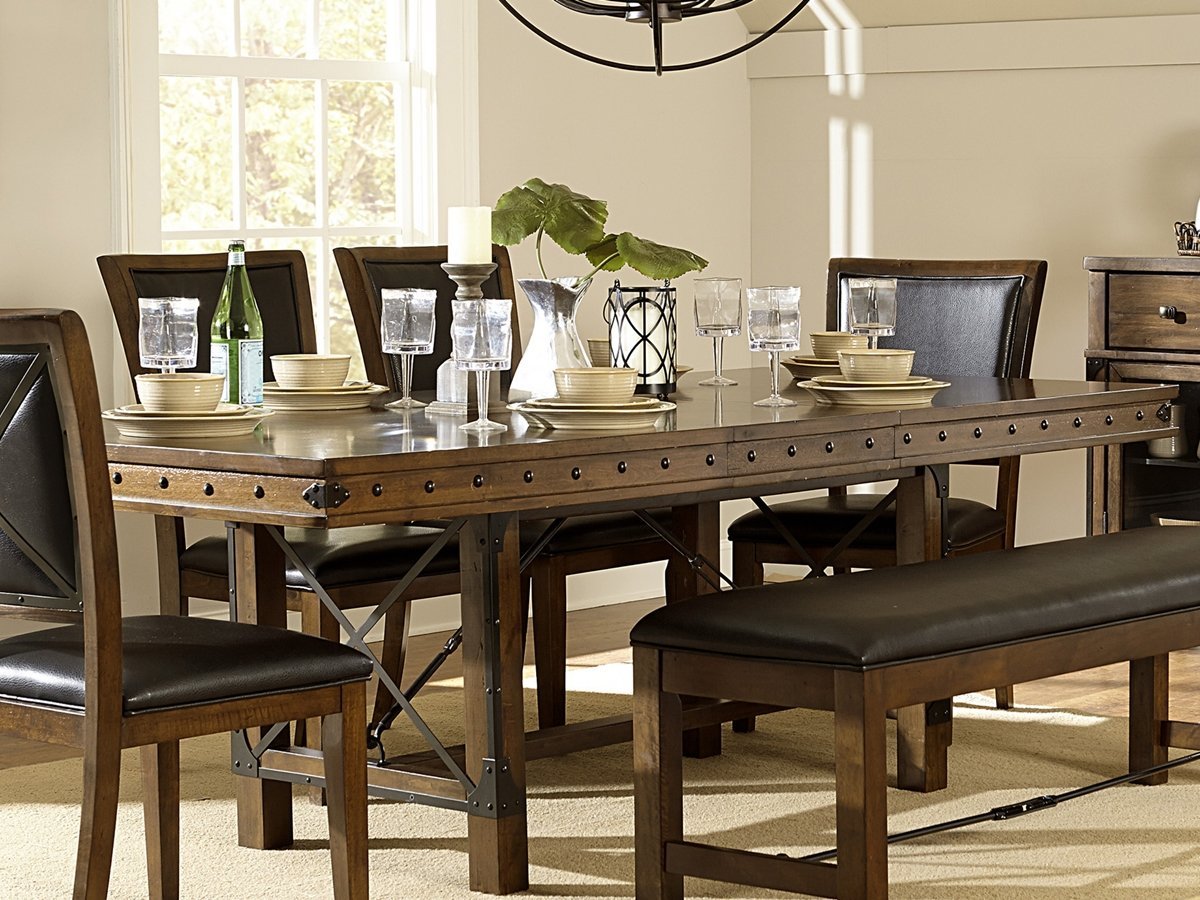 dining inexpensive bench rustic thearmchairs table images room tables with