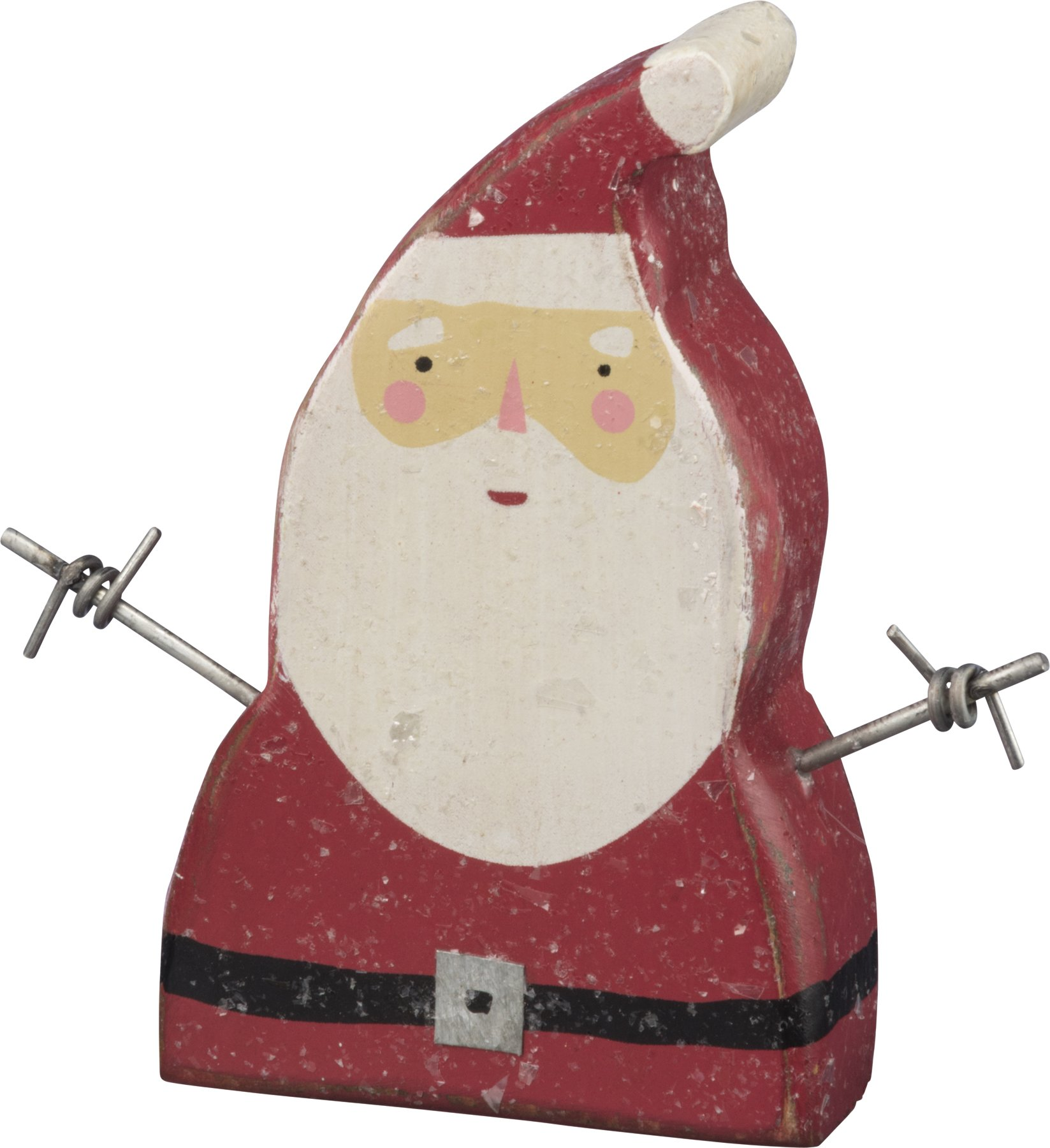 PBK Decor Prim Chunky Wood Merry Santa Sitter