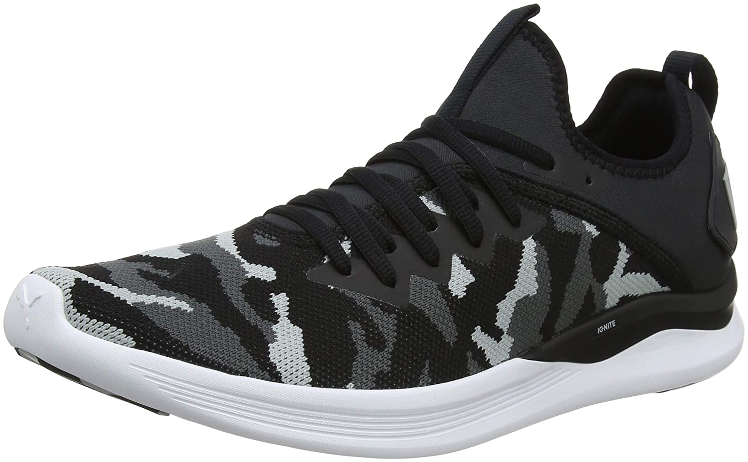Puma Ignite Flash Camo, Zapatillas de Entrenamiento para Hombre 41 EU|Negro (Puma Black-iron Gate-quarry 02)