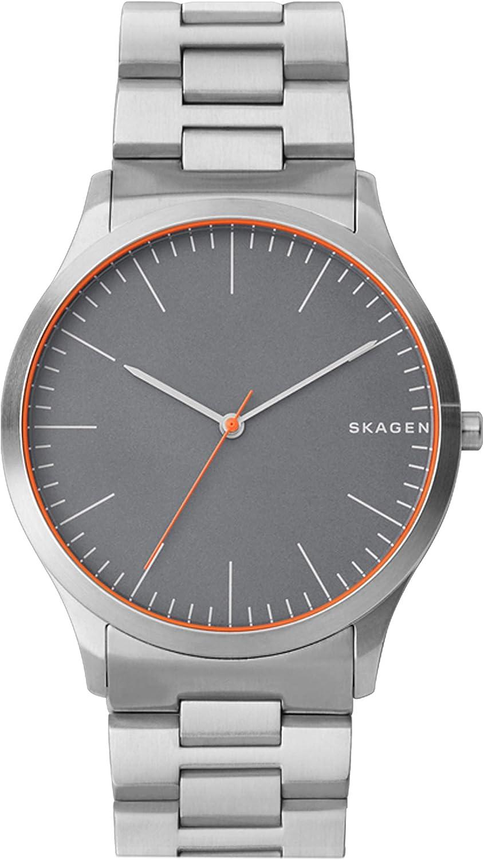 Skagen Jorn Reloj de cuarzo minimalista de acero inoxidable para hombre