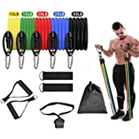VEGAS Resistance Bands Exercise Set Workout Bands Yoga Fitness Legs Ankle Straps for Tranining Physical with Door Anchor…