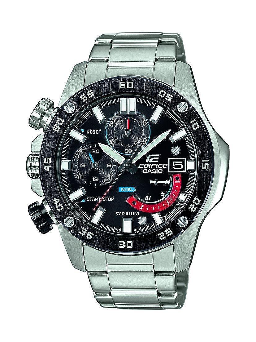 Casio Reloj Cronógrafo para Hombre de Cuarzo con Correa en Acero Inoxidable EFR-558DB-1AVUEF: Amazon.es: Relojes