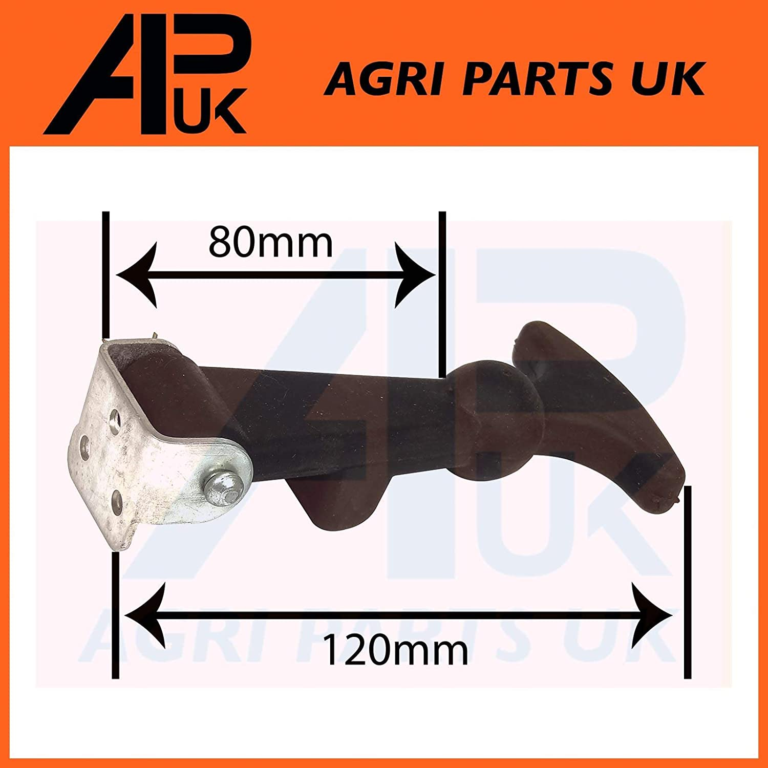 APUK 4x Rubber Bonnet Boot Fastener Catch Pull Strap Pannel Hook Tractor Lorry Boat