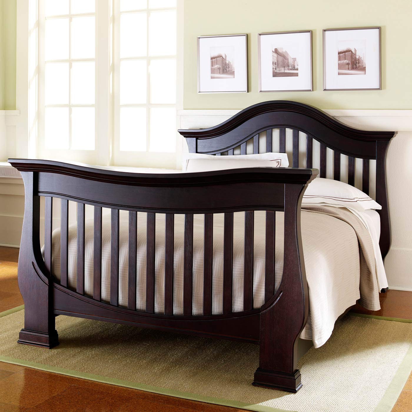 Full Size Conversion Kit Bed Rails for Baby Appleseed Beaumont, Chelmsford, Davenport, Kennedy, Millbury, Stratford Cribs (Espresso) by CC KITS (Image #5)