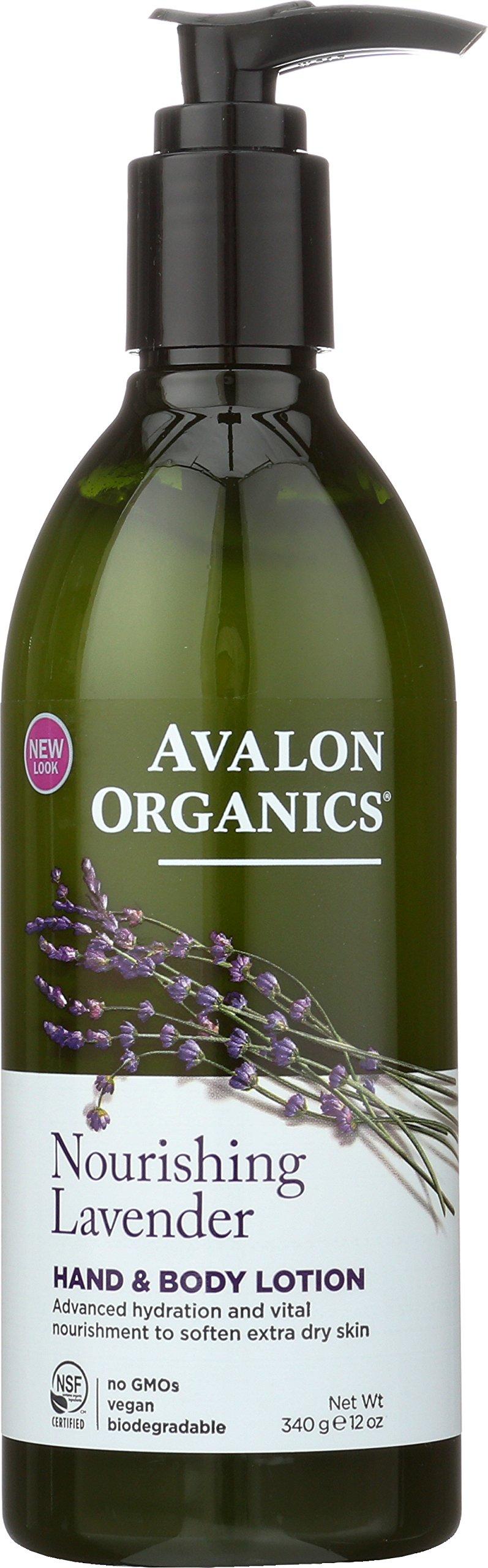 Avalon Organics Hand & Body Lotion, Nourishing Lavender, 12 Ounce